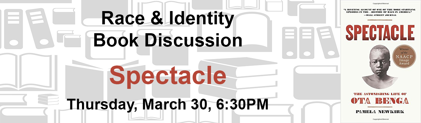 spectacle book discussion at Roslindale Library March 30